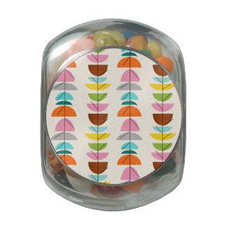 Tarro colorido retro del caramelo de las frascos de cristal jelly belly