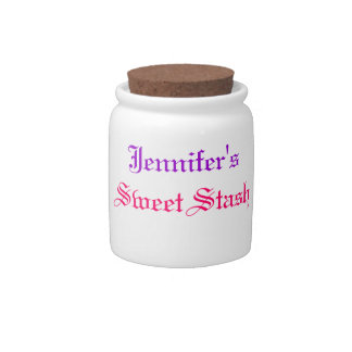 """Tarro """"conocido"""" de encargo del caramelo jarra para caramelo"""
