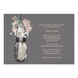 Tarro de albañil de la ducha y Wildflowers nupcial Anuncios Personalizados