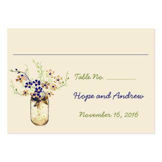 Tarro de albañil de la flor salvaje del cobre y de tarjeta personal