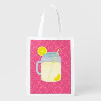 Tarro de albañil de limonada Quatrefoil Bolsa Para La Compra