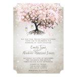 Tarro de albañil pálido - boda rosado del árbol de invitación 12,7 x 17,8 cm