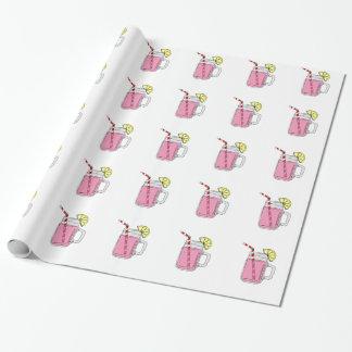 Tarro de albañil rosado de la limonada papel de regalo