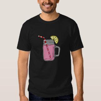 Tarro de albañil rosado de la limonada poleras