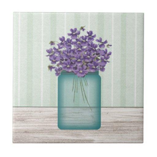 Tarro de albañil VioletsTile Azulejos Cerámicos