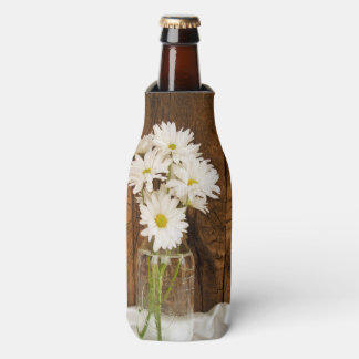 Tarro de albañil y boda del país de las margaritas enfriador de botellas