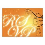 Tarro de albañil y luciérnaga RSVP - naranja de la Invitación 8,9 X 12,7 Cm