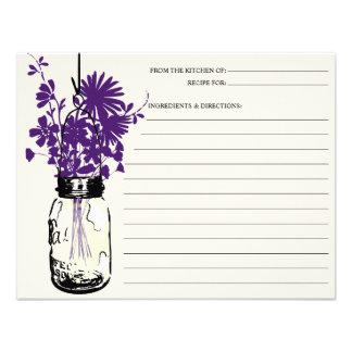 Tarro de albañil y tarjeta de la receta de los Wil Comunicado Personalizado