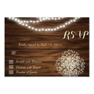 Tarro de albañil y tarjeta de RSVP de las luces Invitacion Personalizada