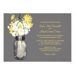 Tarro de albañil y Wildflowers que casan Invitación 12,7 X 17,8 Cm
