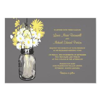 Tarro de albañil y Wildflowers que casan Invitacion Personalizada