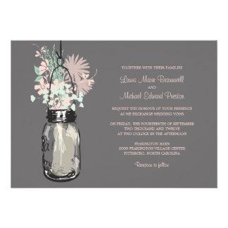 Tarro de albañil y Wildflowers que casan invitacio Anuncios