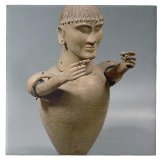 Tarro de Canopic con los brazos movibles (arcilla) Tejas Ceramicas