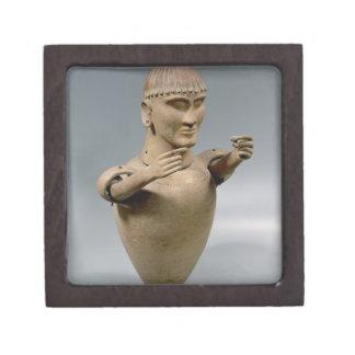 Tarro de Canopic con los brazos movibles (arcilla) Caja De Joyas De Calidad