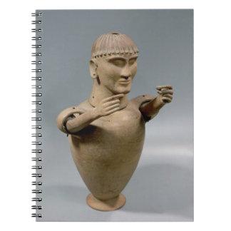 Tarro de Canopic con los brazos movibles (arcilla) Libro De Apuntes Con Espiral