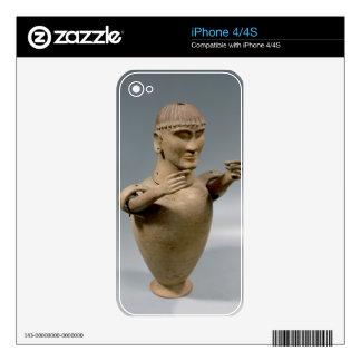 Tarro de Canopic con los brazos movibles (arcilla) iPhone 4S Calcomanías