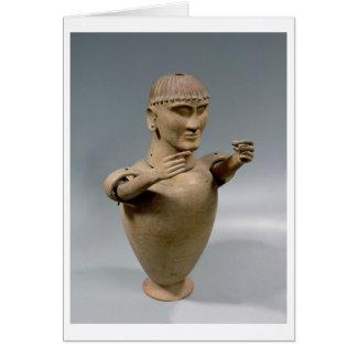 Tarro de Canopic con los brazos movibles (arcilla) Tarjeta