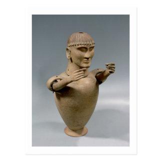 Tarro de Canopic con los brazos movibles (arcilla) Postal
