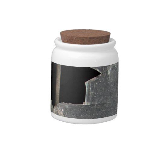 Tarro de cerámica decorativo de la ventana jarra para caramelo