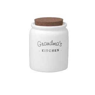Tarro de cerámica del regalo de la cocina de la platos para caramelos