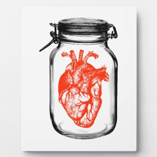 Tarro de corazón placas con fotos