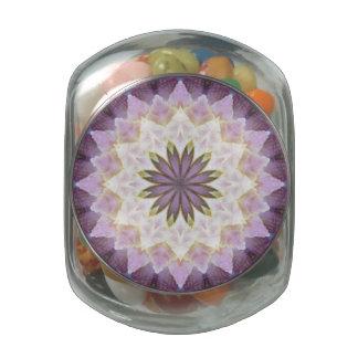Tarro de cristal del caramelo de la mandala de jarrones de cristal