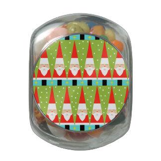 Tarro de cristal geométrico retro del caramelo de jarrones de cristal