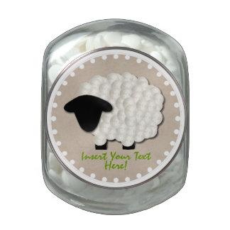 Tarro de cristal personalizado del caramelo del jarras de cristal jelly bely
