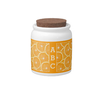 Tarro de encargo del caramelo del monograma de los jarras para caramelos