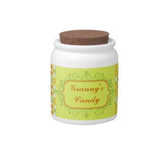 Tarro de encargo Editable del caramelo Jarras Para Caramelos