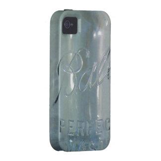 Tarro de enlatado azul del vintage iPhone 4 funda
