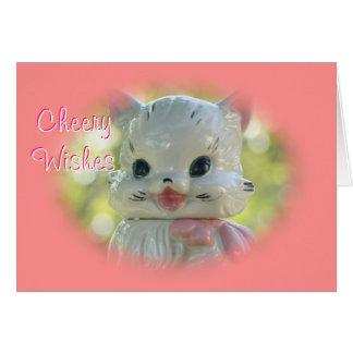 Tarro de galletas 2980 del gato del vintage - tarjeta de felicitación
