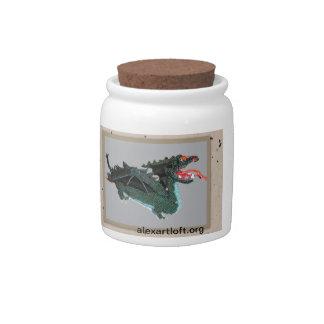 Tarro de galletas del dragón jarras para caramelos