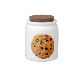 tarro de galletas del microprocesador de chocolate jarras para caramelos