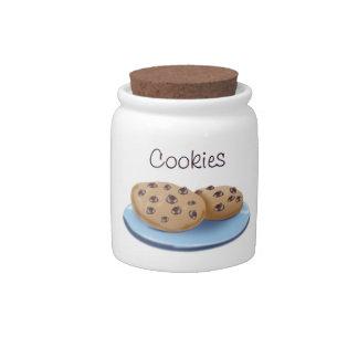 Tarro de galletas del microprocesador de chocolate jarra para caramelo