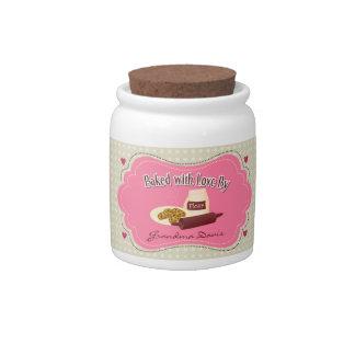 Tarro de galletas personalizado jarra para caramelo