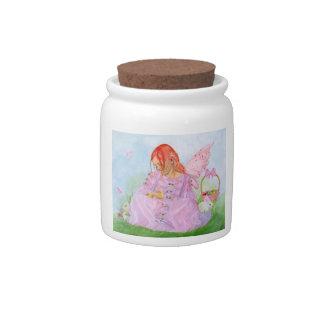 Tarro de hadas del caramelo del conejito de Pascua Plato Para Caramelo