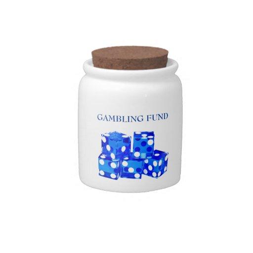 Tarro de juego de los dados del fondo jarra para caramelo
