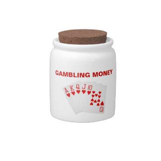 Tarro de juego del dinero tarro de cerámica para dulces