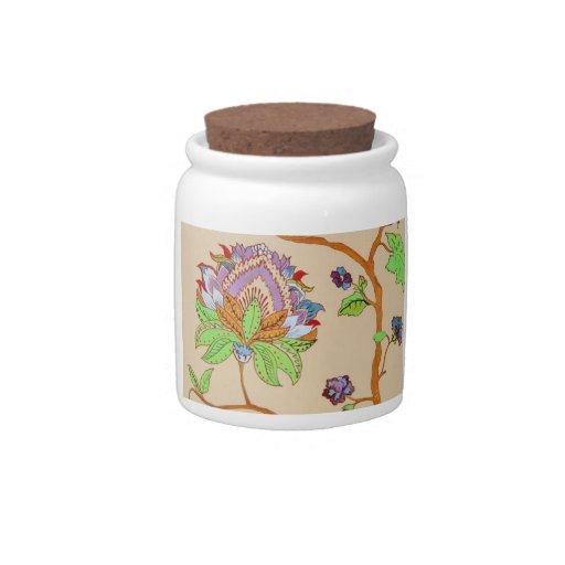 Tarro de la flor de los cielos tarro de cerámica para dulces