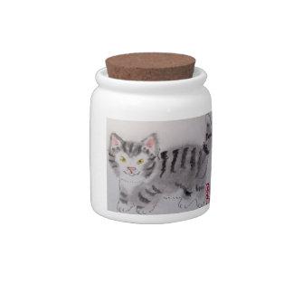 """¡Tarro de la invitación del gato del gatito de """"do Platos Para Caramelos"""