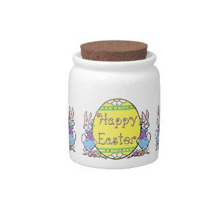 Tarro de lúpulo feliz del caramelo de Pascua Jarras Para Caramelos