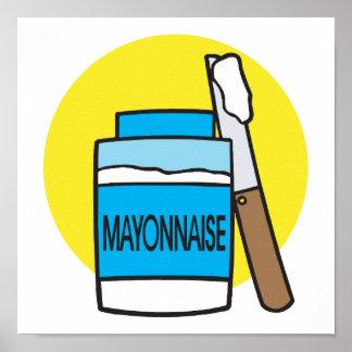 tarro de mayonesa póster