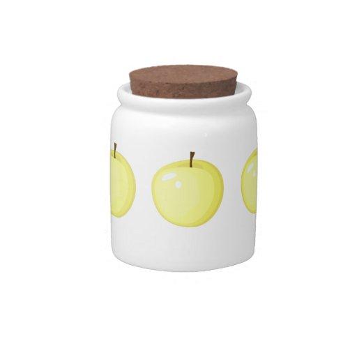 Tarro de oro de las manzanas jarra para caramelo