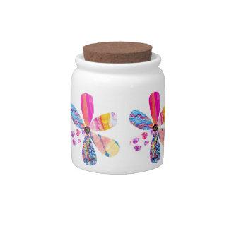 Tarro del almacenamiento de la flor jarra para caramelo