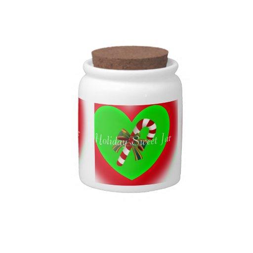 Tarro del bastón de caramelo de los dulces del día jarras para caramelos