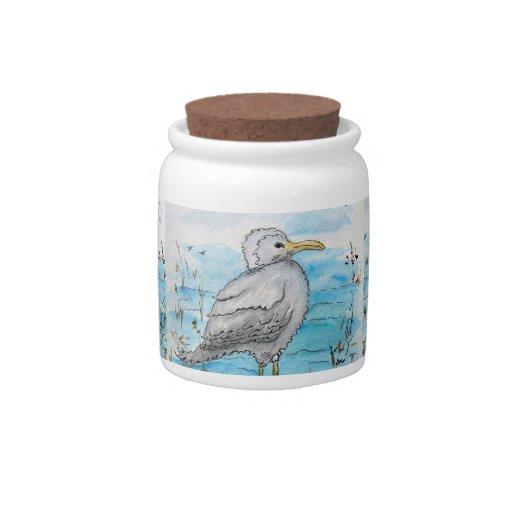 Tarro del bote del diseño de la gaviota jarra para caramelo