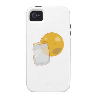Tarro del brillo de la luna iPhone 4/4S carcasas