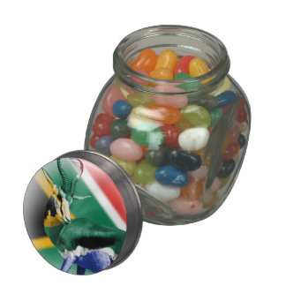 Tarro del caramelo de la bandera del Springbuck de Frascos De Cristal