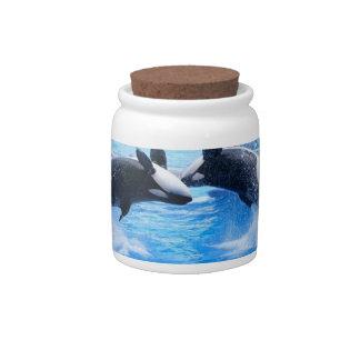 Tarro del caramelo de la foto de la ballena jarra para caramelo